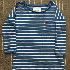 Abercrombie & Fitch Quarter Sleeved Striped top